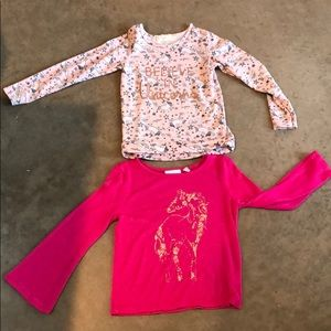 Set of two girls long sleeve tops